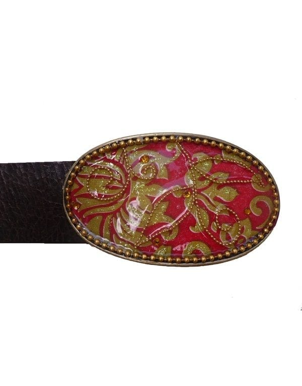 classic red buckle by iris design
